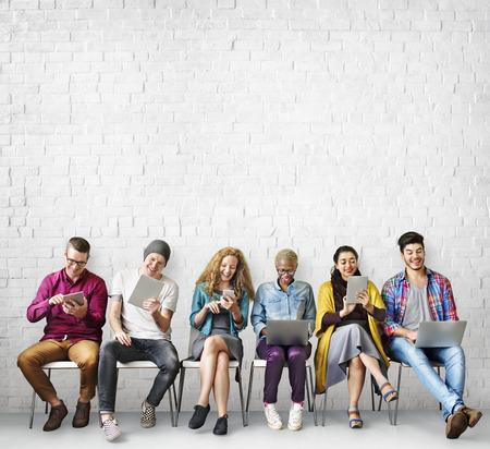 Diversiteit Friends Connection Global Communication Concept