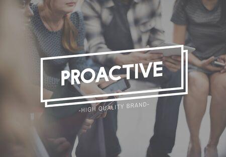 enterprising: Proactive Action Skills Dynamic Enterprising Concept