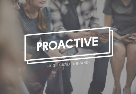 proactive: Proactive Action Skills Dynamic Enterprising Concept