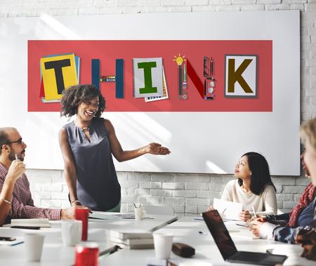 skills diversity: Think Thinking Ideas Skill Start up Concept