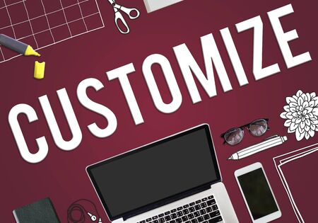 modificar: Personalizar Modificar Ajuste Cambio Concepto