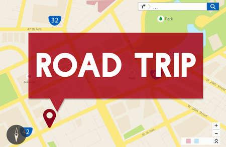 roadtrip: Roadtrip Journey Travel Car Direction Destination Concept Stock Photo