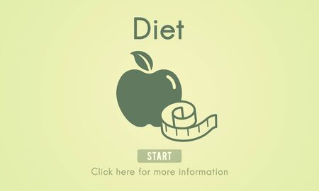 eat healthy: Diet Food Nutrition Obesity Weight Loss Concept
