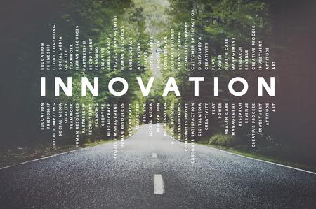 Innovation Innovate Erfindung Entwicklung Design-Konzept