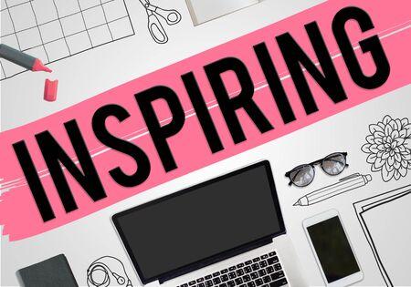 inspire: Inspiring Inspire Inspiration Motivate Creativity Concept Stock Photo