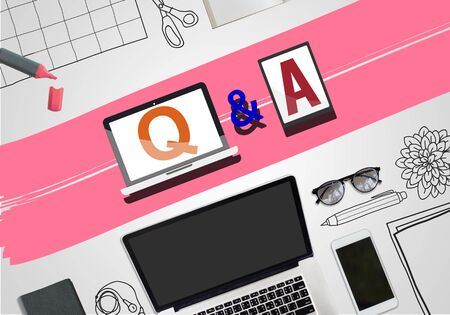 response: Q & A Information Help Response Reply Explanation Concept Stock Photo