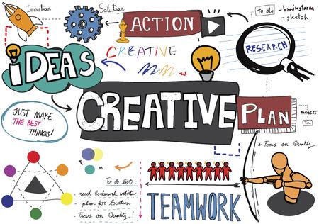 Creatief creativiteit ideeën inspiratie Innovatie Concept