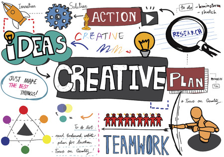 creative solutions: Creative Creativity Design Ideas Inspiration Innovation Concept Stock Photo
