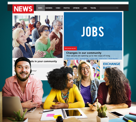 College Student Education Knowledge News Article Concept Stock Photo