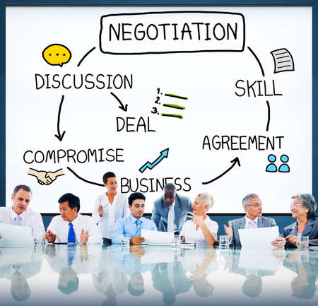 oficina ejecutiva: Negotiation Cooperation Discussion Collaboration Contract Concept