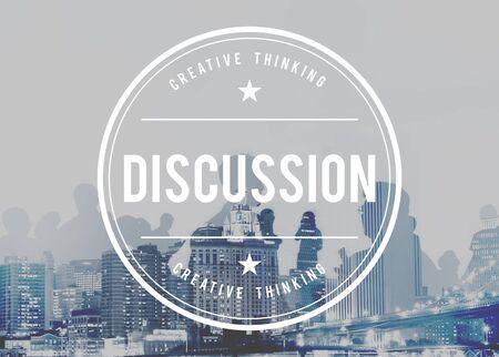negotiate: Discussion Argument Arguing Debate Negotiate Concept Stock Photo
