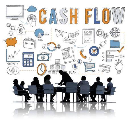 Cash Flow Banking Finance Commece Business Concept