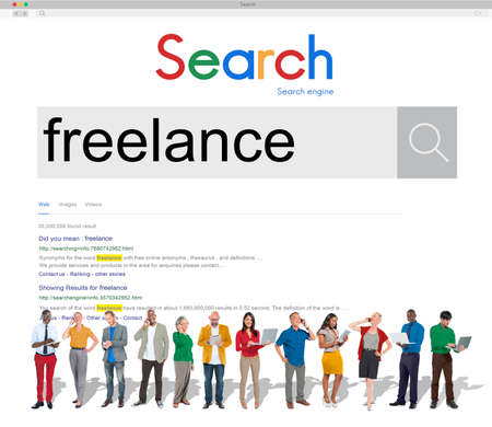 independent: Freelance Contract Career Freedom Independent Concept