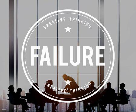 failed plan: Fail Failed Failing Failure Fiasco Defeat Collapse Concept