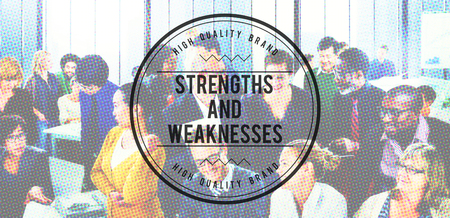 weaknesses: Strengths and Weaknesses Opportunities Threats Concept