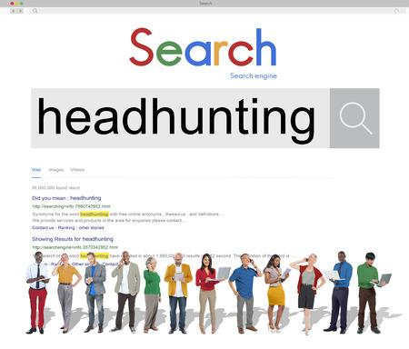 headhunting: HEadhunting Hiring Recruitment Man Power Concept Stock Photo