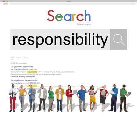 responsible: Responsibility Responsible Reliability Task Trust Job Concept