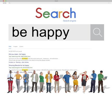 be: Be Happy Enjoyment Cheerful Fun Happiness Concept