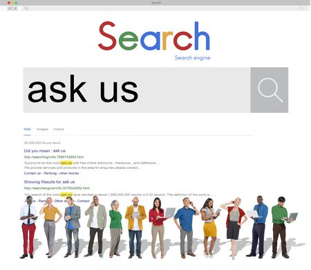 enquiry: Ask Us Enquiry Contact Questions Concept