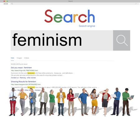 liberate: Feminism Advocacy Belief Equality Movement Concept Stock Photo
