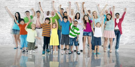 community group: Group of People Community Celebration Happiness Concept Stock Photo