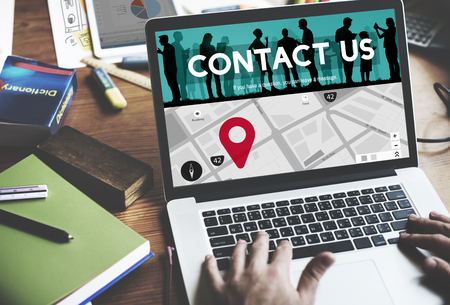 business contact: Contact Us Assistance Business Correspondence Concept