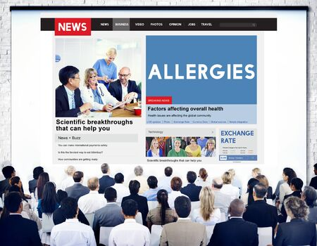 sensitive: Allergies Reaction Aversion Medical Sensitive Concept