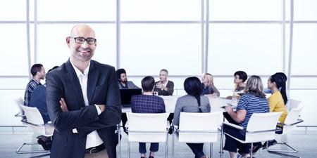 argumentation: Business People Meeting Leadership Teamwork Concept Stock Photo