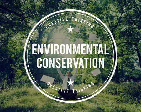 away from it all: Environmental Conservation Global Ecology Eco Concept Stock Photo