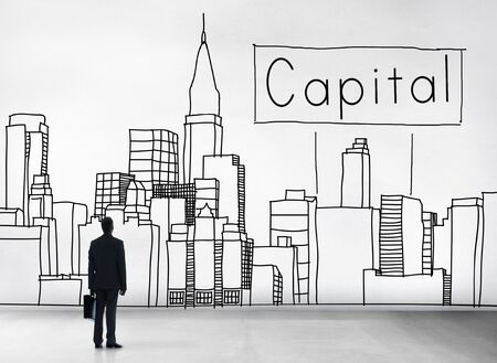 district': Capital City District Modern Business Cityscape Concept Stock Photo