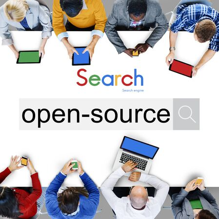 open source: Open Source Developer Program Software User Concept