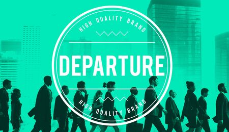 departing: Departure Departing Depart Going Leaving Travel Concept Stock Photo