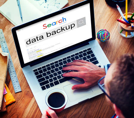 archiving: Data Backup Copying Archiving Storage Technology Concept