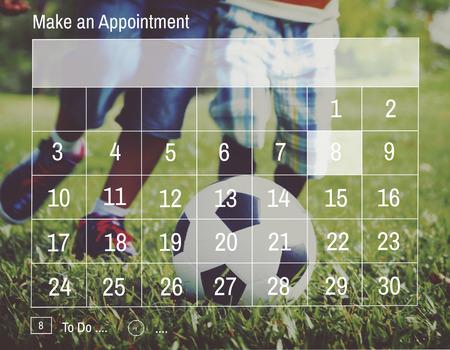 assignation: Appointment Calendar Agenda Schedule Planning Concept Stock Photo