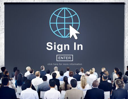 subscribing: Sign In Registration Contact Subscribe Concept