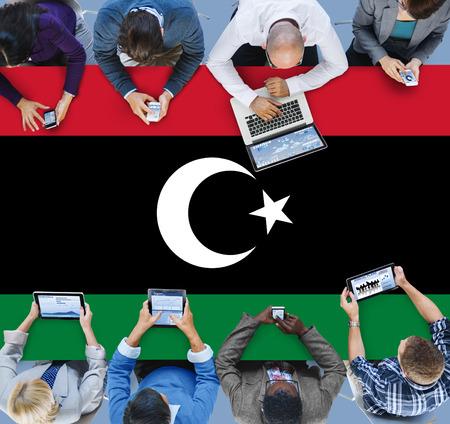 libyan: Libya National Flag Government Freedom LIberty Concept