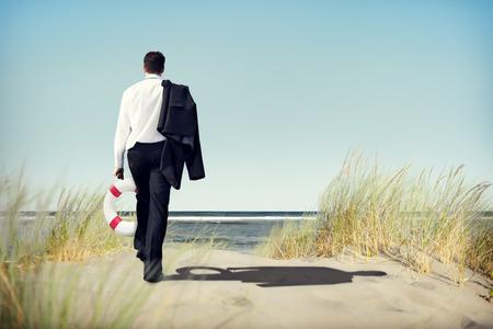 Empresario Pacífica Abandon Relajación Viajes Concepto