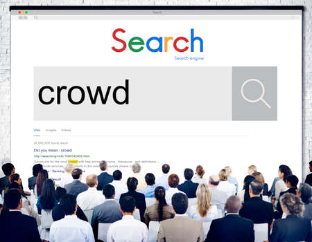 unstructured: Crowd Large Group of People Diversity Concept Stock Photo