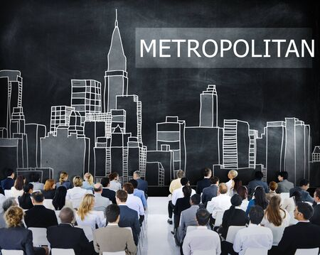 Metropolitan City Urban Democracy Advanced Concept Stock Photo