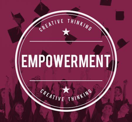 enabling: Empowerment Empower Empowering Improvement Concept Stock Photo