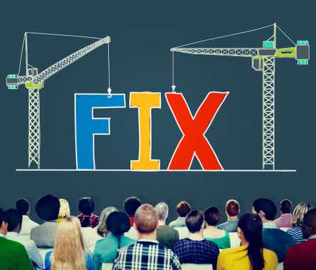 class maintenance: Fix Mechanical Repair Solution Technician Maintenance Concept