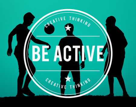 be: Be Active Energetic Action Exotic Fitness Concept Stock Photo