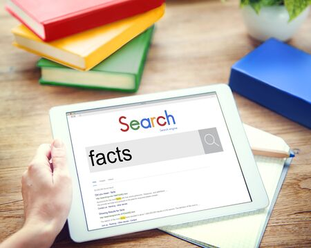 actuality: Facts Information Point Certainty Datails Factor Concept Stock Photo
