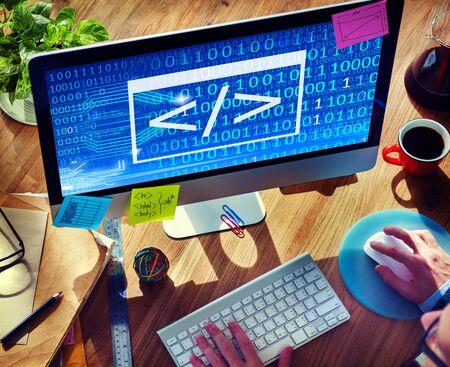 programing: Code Programing Binary Html Information Computer Concept