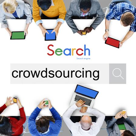 crowdsourcing: Crowdsourcing Collaboration Community Group Concept