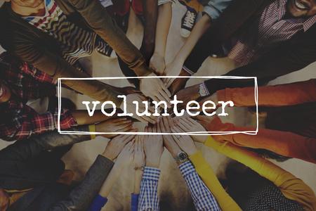 Volunteer concept Archivio Fotografico