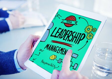 trainer device: Leadership Leader Management Authority Director Concept Stock Photo