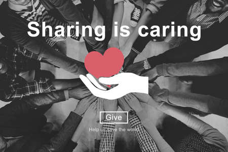 black empowerment: Sharing is Caring Money Donation Give Concept