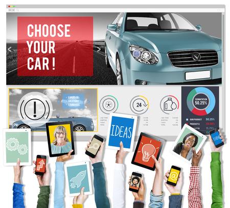communication capability: Car Technology Transportation Motor Engine Concept Stock Photo