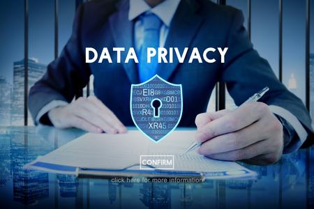 privacidad: Protección de privacidad de datos Privacidad concepto de interfaz